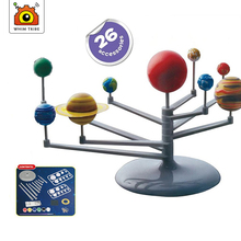 Youth DIY Lab Toy Set Science Teaching Series Solar System Planetarium Model Science Experiment Nine Planets Children Scientific 2017 diy the solar system nine planets planetarium model kit science astronomy project early education for children
