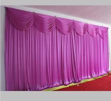 Hot Sale Ice Silk Elegant Wedding Backdrop 3m*6m Custom Color Wedding Supplies Curtain for wedding Decorations Free Shipping