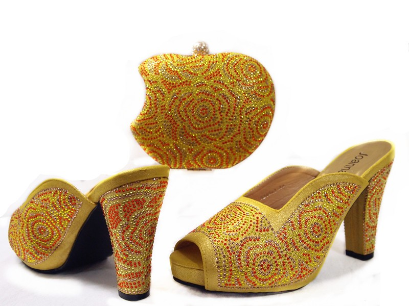 ФОТО New Design African Woman Shoes With Bag Matching High Quality Pumps Shoes And Bag To Match Italian Sandal Shoes june01