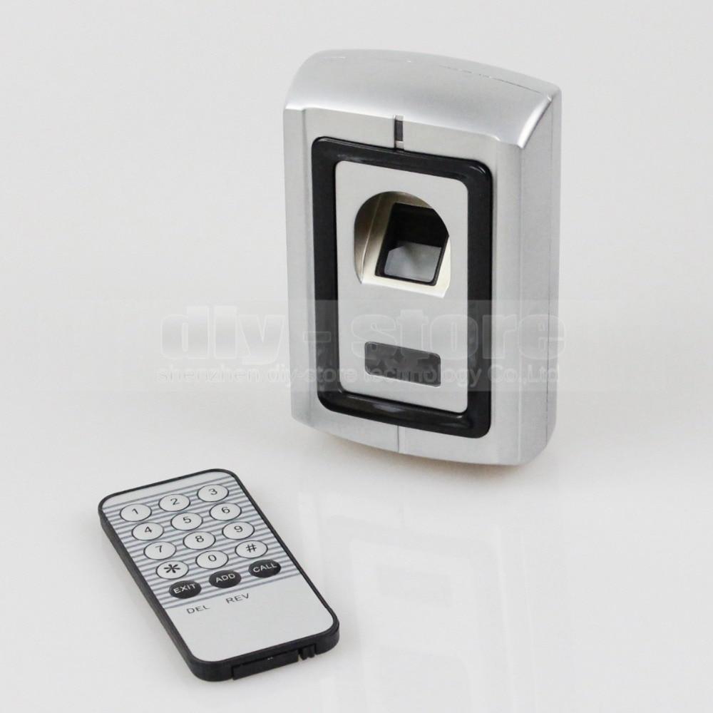 DIYSECUR Metal Case Fingerprint Door Lock Access Control Controller Kit + Remote Control