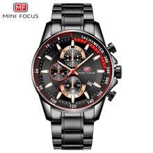 Мини-фокус мужские часы из нержавеющей стали, часы с хронографом, часы с платьем для мужчин Relogios Masculinos, водонепроницаемые 0218G. 04