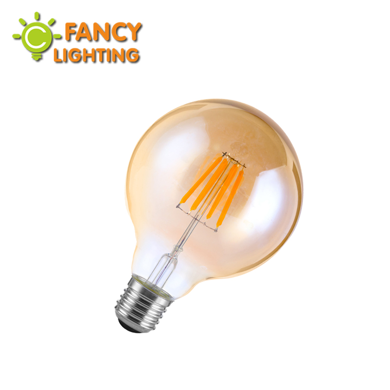 Led lamp G80 Golden bombillas led E27 110V 220V led edison light bulb for home/living room/bedroom decor 4W/6W/8W lampadas led