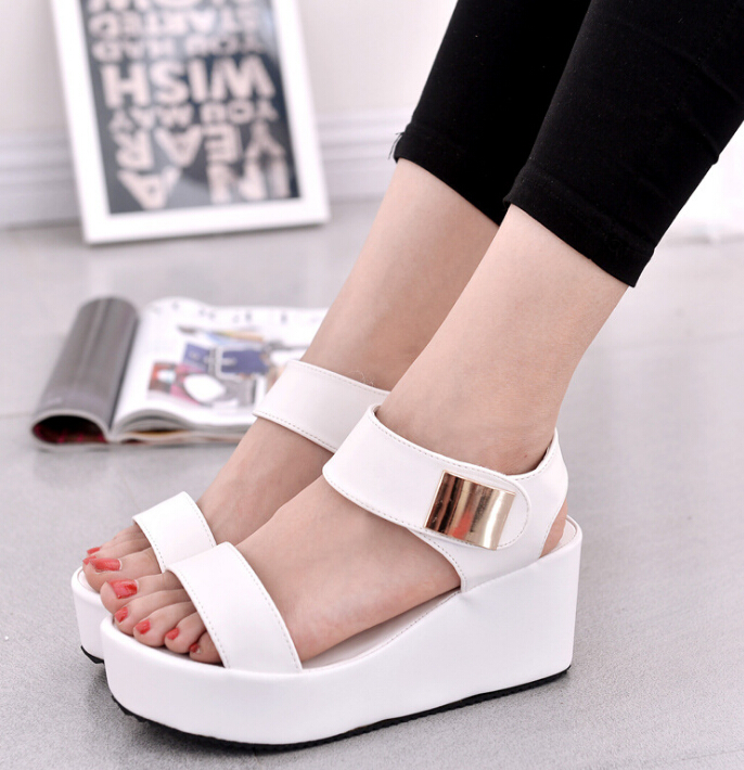 Hot sale 2017 Summer shoes woman Platform Sandals Women Soft Leather Casual Open Toe Gladiator wedges  Women Shoes Flats 2017 gladiator summer shoes woman platform sandals women flats soft leather casual open toe wedges sandals women shoes r18