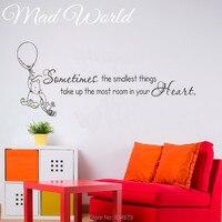 Mad welt-manchmal die kleinsten dinge wandkunst wandtattoo home diy dekoration wandbild entfernbares aufkleber