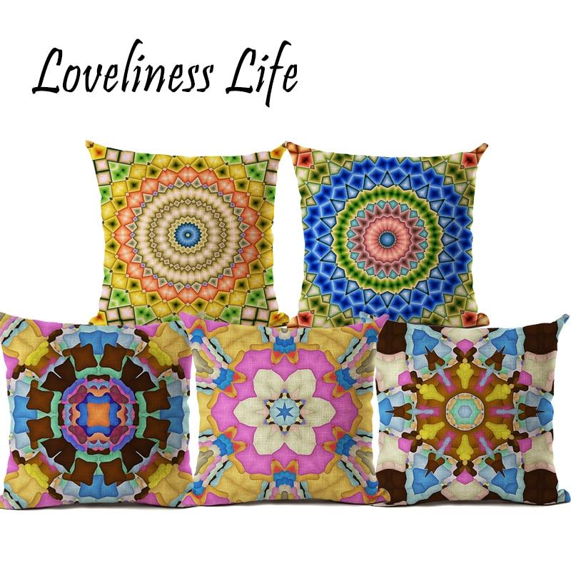 Bohemian Style Lenjerie de pernă pernă de acoperire colorate - Textile de uz casnic