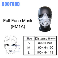 DOCTODDD F1A Full Face Mask W/ Headgear Clips User Manual For CPAP Auto CPAP APAP BPAP COPD Anti Snoring Sleep Aiding Therapy