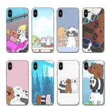 Aiboduo We Naked Ice Bear Panda Soft silicone coque Cover case for iPhone 5s 5 8 7 6 6S Plus X XS XR XSmax 7plus 8plus