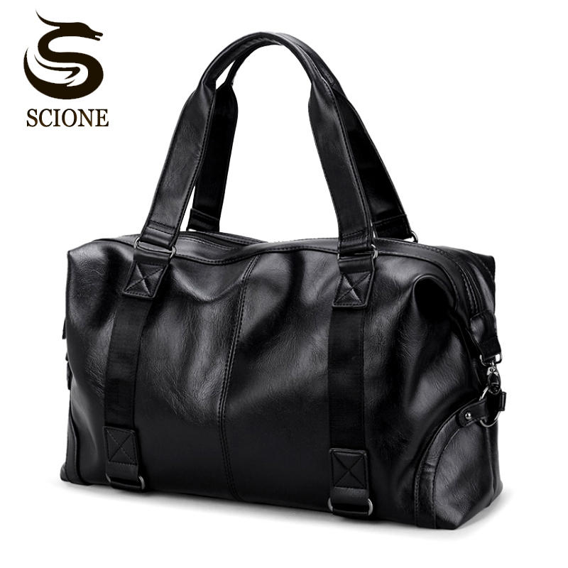 2018 Hot Top PU Leather Men Travel Handbag Carry On Bags Duffel Tote Bag Male Messenger Bag Casual Crossbody Travel Bags canvas leather men travel bag carry on luggage bags men hand casual travel duffel bags tote large weekend bag overnight