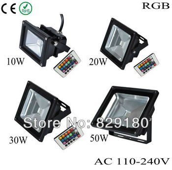 30W RGB LED Waterproof  LAMP IP65 110-240V high power outdoor RGB Changeable Floodlight Lamp