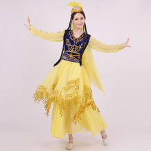 2017 Rushed Women Polyester Rayon Spandex Hmong Clothes New Minority Dance Costumes Chines