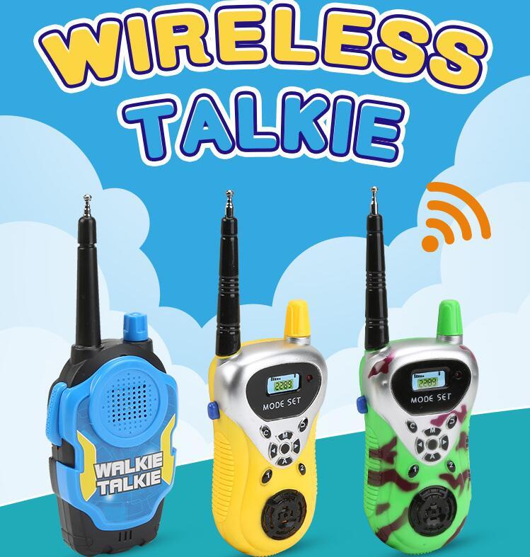 2 шт./лот связи электронный рации игрушка детская Портативный двусторонней Радио Мини мультфильм детские игрушки ...