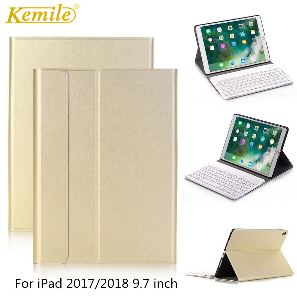 Case  For iPad 2018 Bluetooth Keyboard With removable Keyboard For iPad 2017 Pro 9.7 Air 1/2 Keyboard A1893 A1954 A1822 A1823Case  For iPad 2018 Bluetooth Keyboard With removable Keyboard For iPad 2017 Pro 9.7 Air 1/2 Keyboard A1893 A1954 A1822 A1823