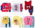 2016 adorable cartoon kids pajamas set/Cotton children pajamas suit/Hot sale children clothing set