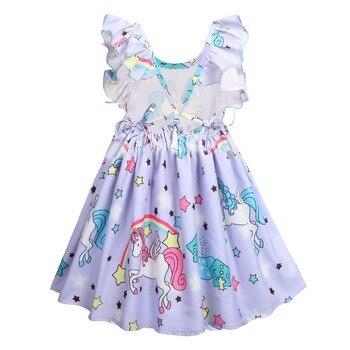 Backless Rainbow Pony Princess Dress