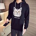 Fashion Men Hoodies Winter New Plus Size Thick Warm Mens Tracksuit Loose Casual Cat Head Print Sweatshirt For Men Hooded Hoody
