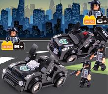 2016 New City Swat Corps Patrol Car Military Police Minifigure Building Blocks Set Compatible With legoed Brick Toys For