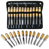 Professional Wood Carving Chisel Set 12 Piece Sharp Woodworking Tools Carrying Case Great for Beginners by Tuma Crafts
