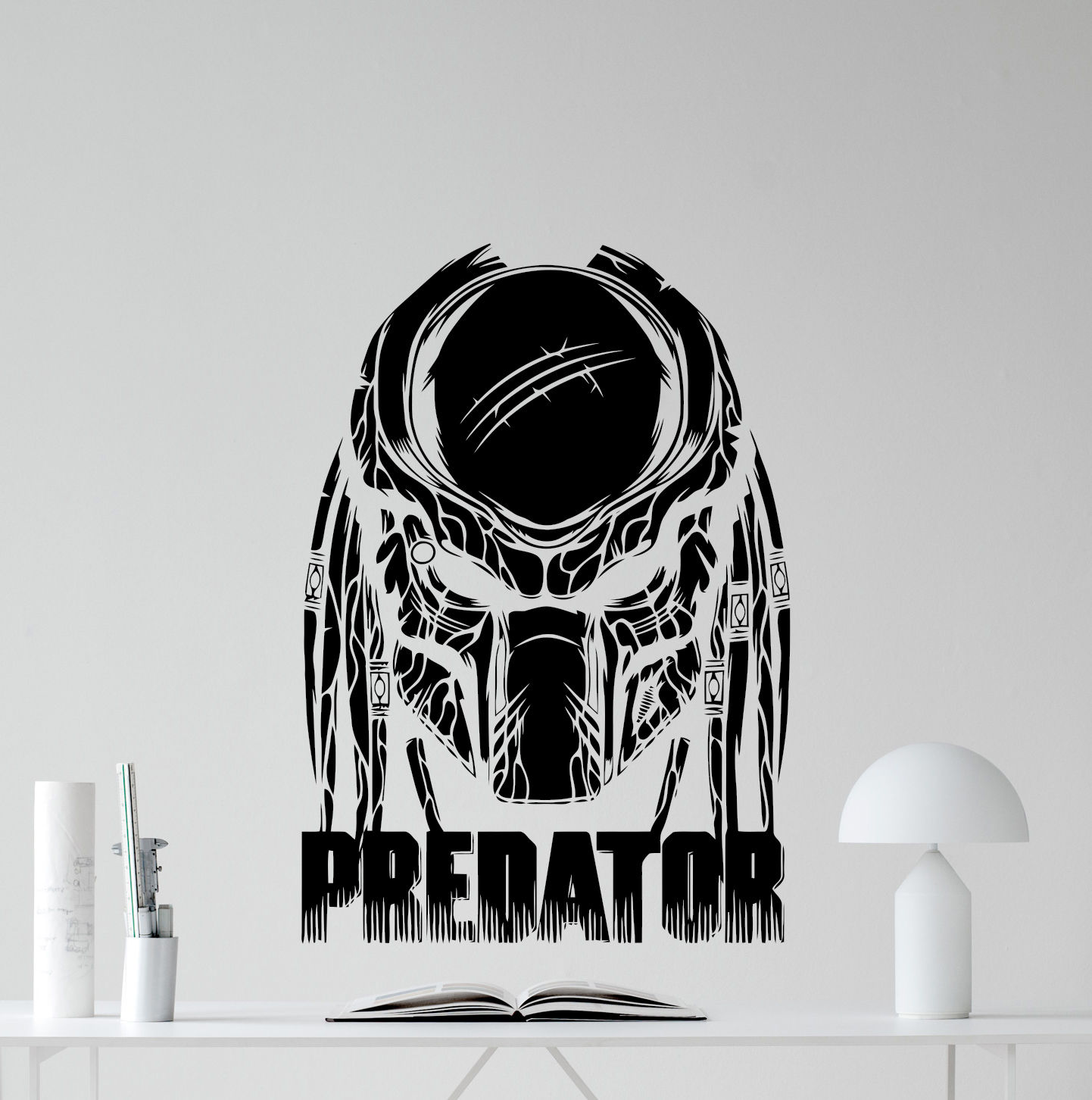 Predator film superhero vinyl dinding decal stiker anak art decor mural e579 di wall stickers dari rumah taman aliexpress com alibaba group