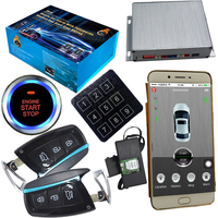 passcode auto keyless entry car security alarm system gsm mobile app control central door lock and push engine start stop car