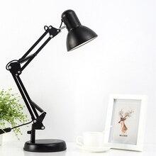 Mabor 110V-240V Black LED Flexible Swing Arm Clamp Mount Desk Lamp Table Light Reading Lamp for Home Office Studio Study Bright