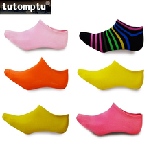 Tutomptu 1 Pairs Cotton Boat Socks Women Non-Slip Sock Slippers Outdoor Sport Socks Breathable Running Socks