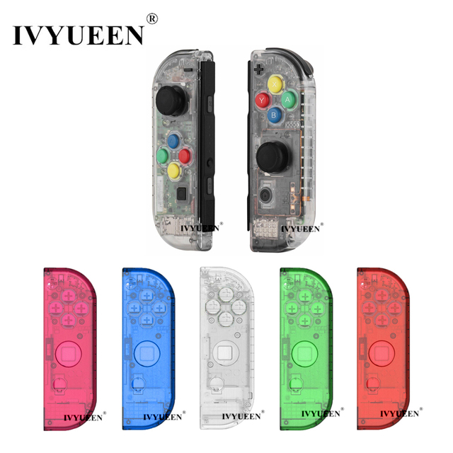 IVYUEEN for Nintendoswitch NS Joy Con Controller Transparent Clear Replacement Housing Shell for Nitendo Switch Joy Con Cover