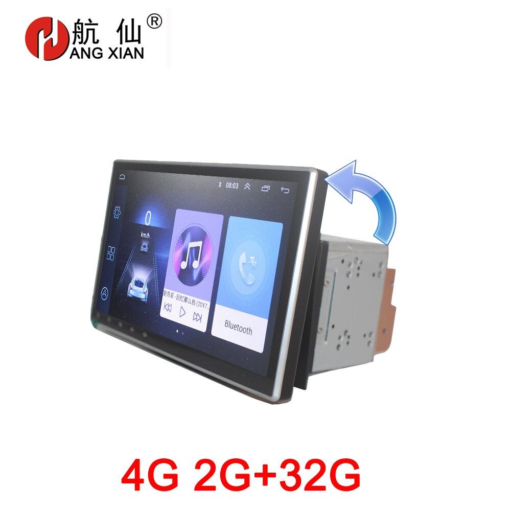 Accrochez XIAN écran rotatif 2 din autoradio pour voiture universelle lecteur dvd GPS navigation bluetooth voiture accessoires 4G internet
