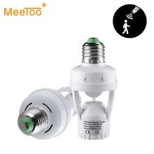 E27 hareket sensörlü ışık anahtarı 100 240V hareket dedektörü E27 taban lamba tutucu ışık kontrolü ile akıllı anahtar ampul soket adaptörü