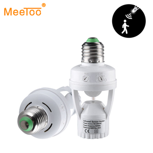 Image 1 - E27 hareket sensörlü ışık anahtarı 100 240V hareket dedektörü E27 taban lamba tutucu ışık kontrolü ile akıllı anahtar ampul soket adaptörü