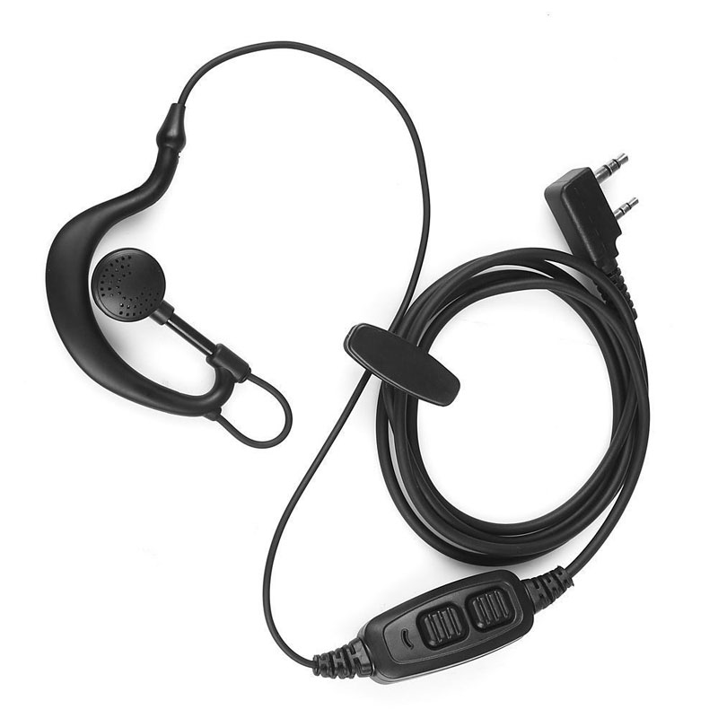 Headset Headphone Mic Micphone with Double Dual PTT Button for Baofeng UV82 UV-82 UV-89 UV-8D Walkie Talkie Earphone Accessories