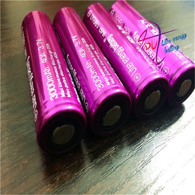 2PCS Electronic Cigarettes Rechargable 18650 Battery Liter energy battery 3000Mah 40A Battery AA For E-Cigarettes BOX MOD VAPE