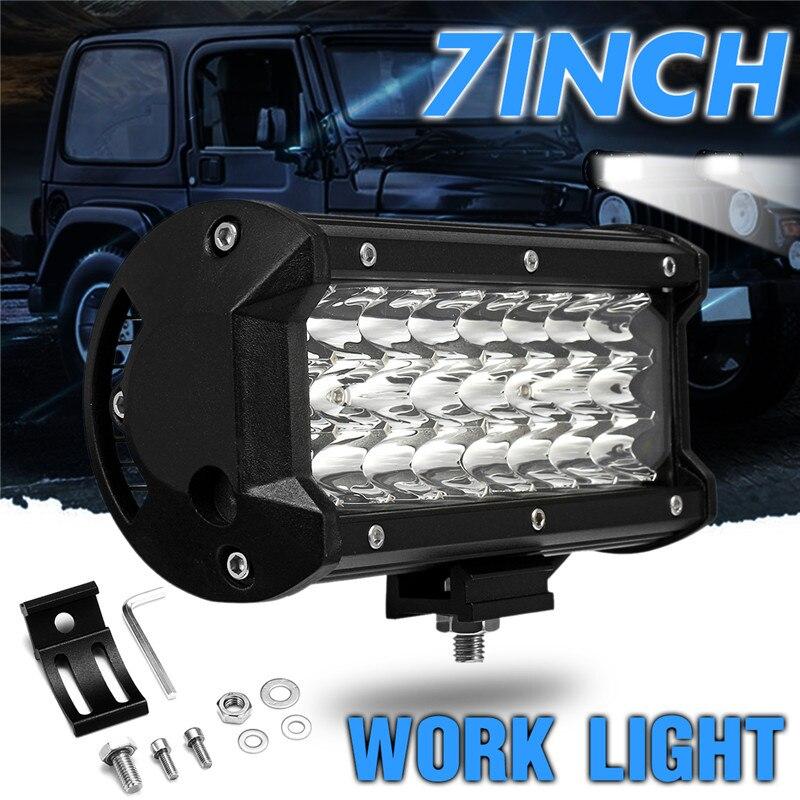 72 watt LED Work Light Spot Lampe 12 v 7 zoll 6000 karat Super Helle 24 Led-strahler für Offroad lkw Auto Boot Beleuchtung