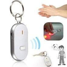 Amzdeal свисток Звуковой сигнал Управление звуком светодиодный ключ искатель анти бирка на случай потери ребенка сумка ПЭТ локатор найти Брелок Случайный цвет