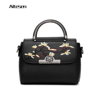 AITESEN Floral Decoration Obag Handle Soft PU High Quality Versatile Women Bags New Fashion Ladies Totes