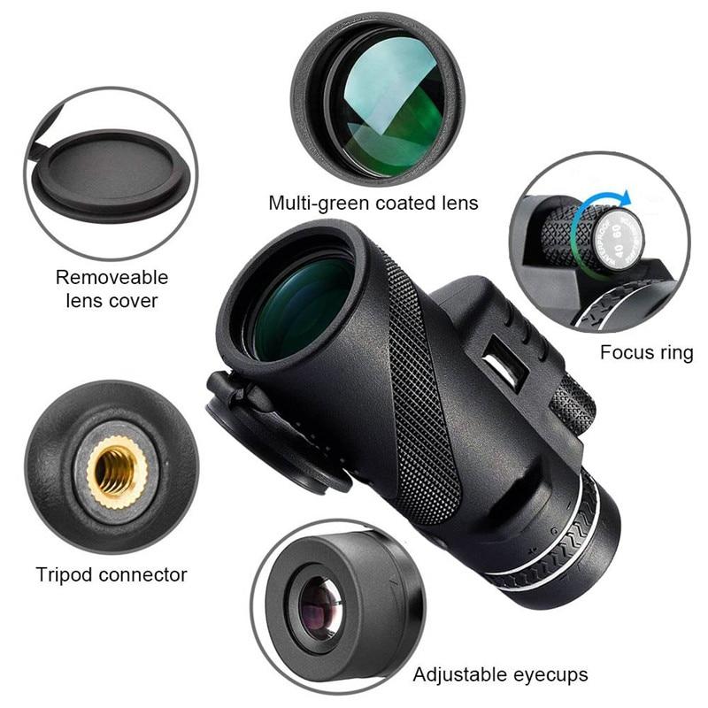 Image 3 - Monocular 40x60 Zoom HD Professional Binoculars Telescope night vision Military Spyglass with Phone Holder Tripod Hunting Turizm-in Monocular/Binoculars from Sports & Entertainment
