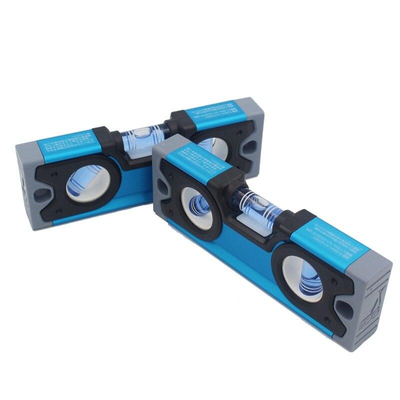 SHINWA High precision Aluminum Alloy level Rule Mini Bubble Level with Magnetic Micro Small levels 10