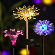 Solar Garden Light  Flower Lights For Decoration светильник на солнечных батареях