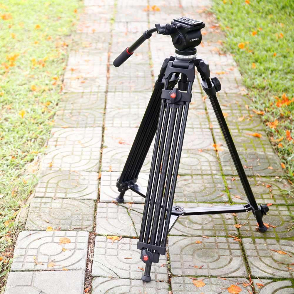 ASHANKS Professional Photography Camera Tripod 1.6M Load 5KG Dslr Studio Video Stand with Fluid Damping Head Quick Release Plate