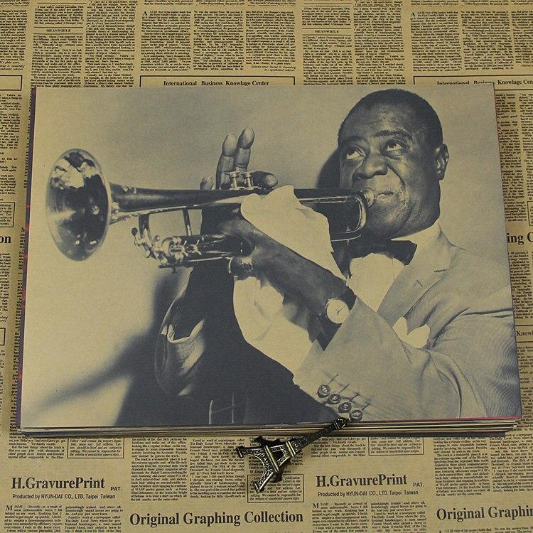 Louis Luis  Kraft Poster Jazz Jazz Black Singer Rock Painting