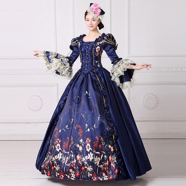 Online Shop Elegant Gothic Medieval Renaissance Costume Halloween ...
