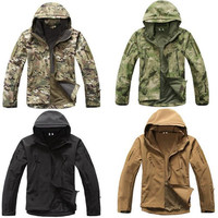 High Quality Lurker Shark Skin Soft Shell TAD V 5 0 Military Tactical Jackets Men Waterproof