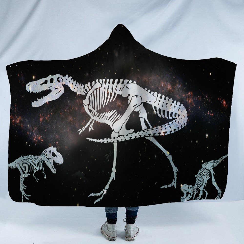 恐竜タコ付きブランケットスーパーソフトバック学校に毛布用キャップ暖かい毛布とスロー旅行アニメ毛布