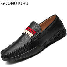 2019 new fashion men's shoes casual genuine leather cow loafers male flats slip on shoe man nice driving shoes for men hot sale mycolen new fashion genuine leather men loafers slip on casual shoes man luxury brand driving shoe male flats footwear black