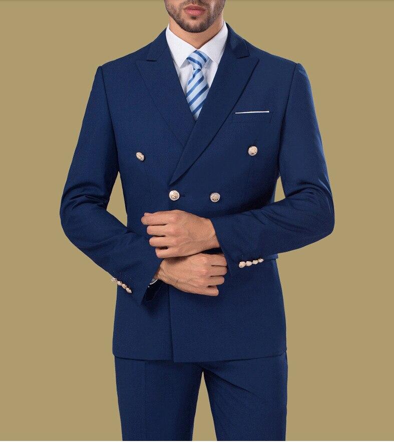 Trajes formales de doble botonadura azul burdeos blancos trajes para - Ropa de hombre
