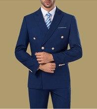Barato doble breasted trajes formales azul Borgoña blanco para Hombre Trajes  3 unidades de padrino de boda de fiesta (chaqueta +. 406859174f5