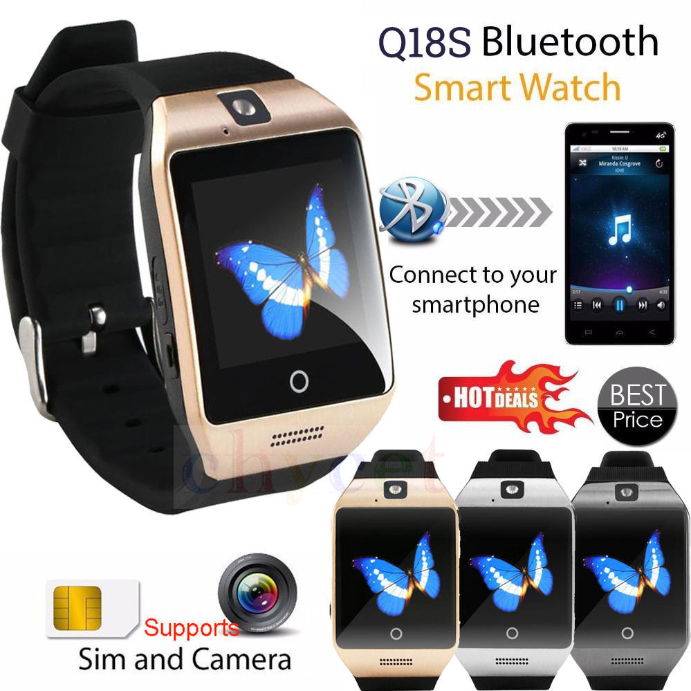 Smarcent Q18S Bluetooth relogio Smart Watch Smartwatch Support SIM Card GSM Video Camera Smart Phone watch clock watches men aiwatch g3 smart watch phone mtk2502 bluetooth 4 0 gsm sim card