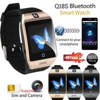 Smarcent Q18S relogio Inteligentny Zegarek Bluetooth Smartwatch Wsparcie Karty SIM GSM Kamery Wideo Smart Phone watch zegar zegarki mężczyzn
