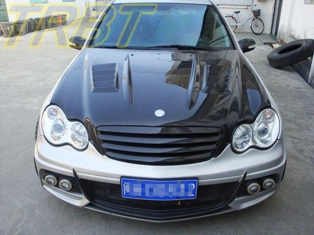 448 27 W203 Capot En Fiber De Carbone C180 Avant Bonnet C220 C240 Voiture Style Tuning Pieces Cas Pour Mercedes Benz Classe C W203 2001 2002