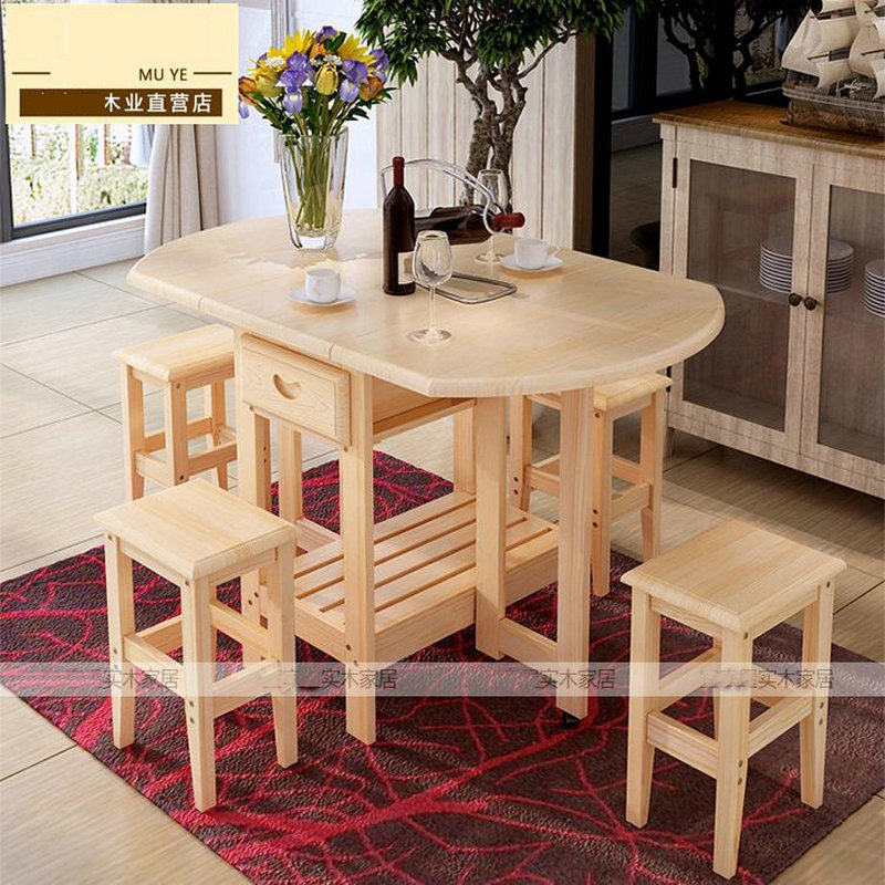 Semi Circle Foldable Pine Solid Wood Living Room Furniture Coffee Dining Table NO Drawers Chairs Children Lacquer Health In Tables From