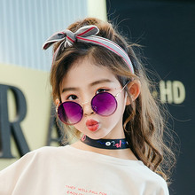 New Arrival 2019 Children Personality Round Lens Frameless Sun Glasses for Boys